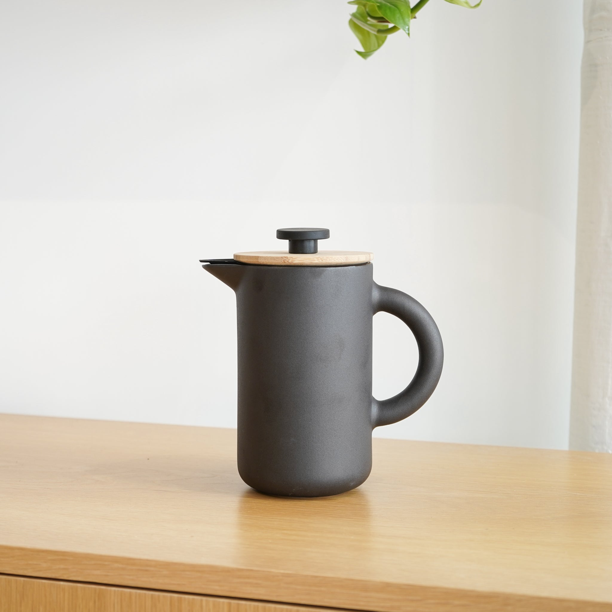 From Stelton, the Theo French Press with bamboo lid.