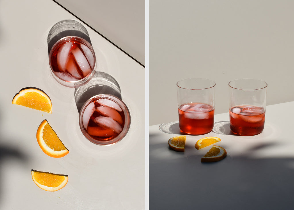 The Tapered Drinking Glasses are designed as subtle inverse shapes ideal for drinking a variety of beverages.