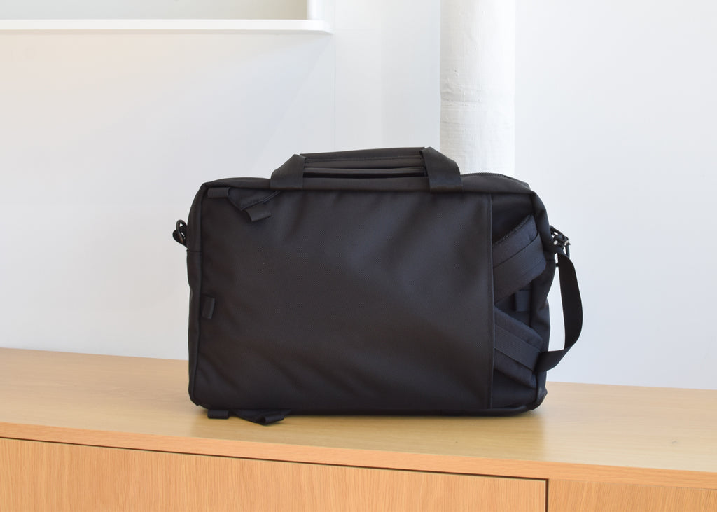 Topo Designs Commuter Briefcase in Ballistic Black from Commonplace design shop.