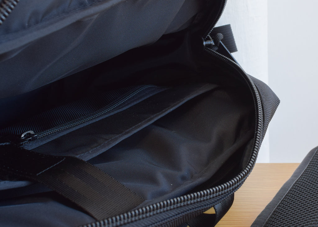 From Denver based Topo Designs, the Commuter Briefcase in Ballistic Black.