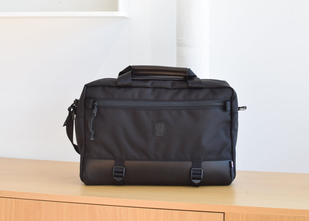 Topo Designs Commuter Briefcase in Ballistic Black.