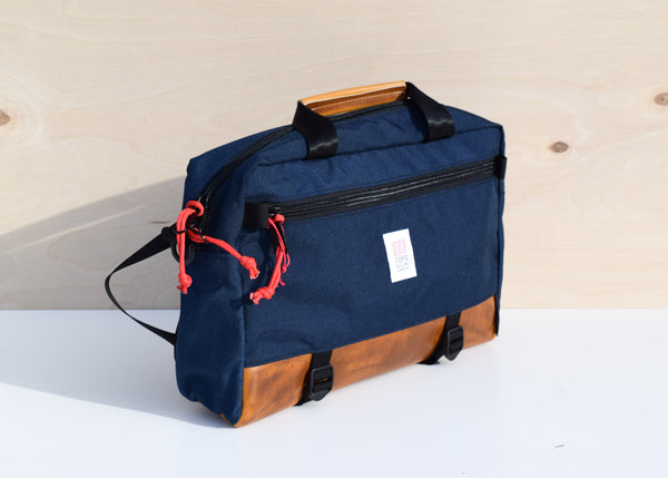Commuter Briefcase (Navy/Brown Leather)