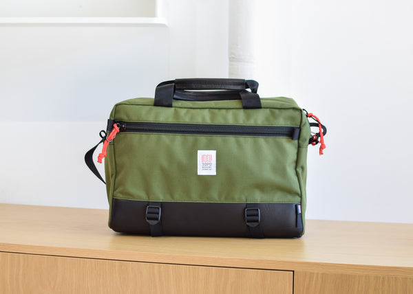 Commuter Briefcase (Olive/Black Leather)