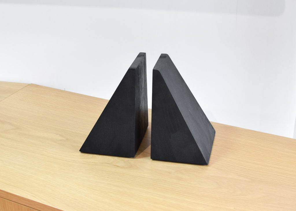 The TRETOW angled bookends available exclusively at Commonplace.
