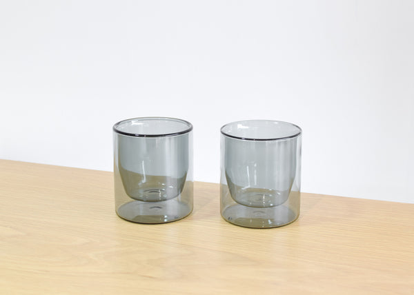 Double-Wall 6oz Glasses (Gray)