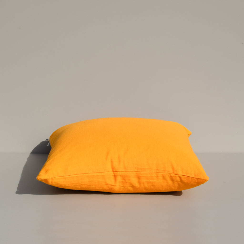 Yellow Turmeric Linen Pillow