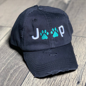 Jeep Paws Classic Distressed Black Hat