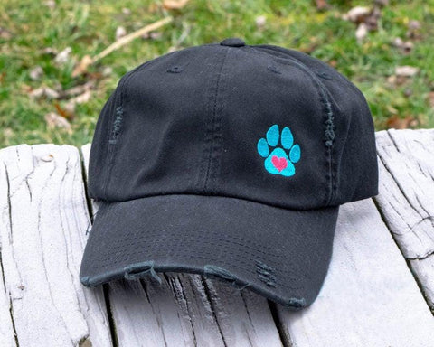 Pink Paws for Dog Lover Black classic Hat