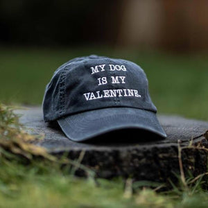 My Dog is my Valentine Classic Charcoal Hat
