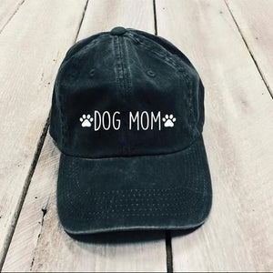 Dog Mom Embroider Classic Charcoal Hat