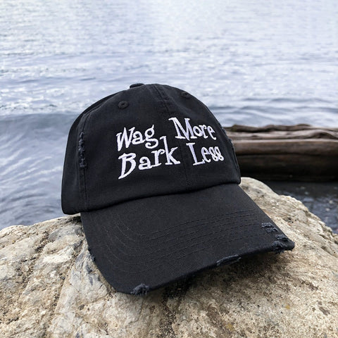 Wag More Bark Less Distressed Classic Hat