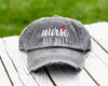 Nurse Off Duty Distressed Classic Hat