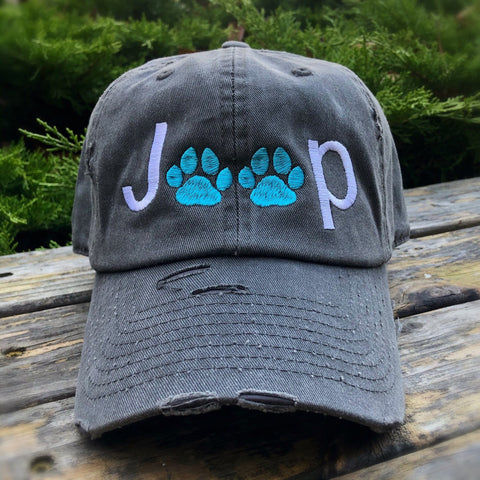 Jeep Paw Life Distressed Classic Hat