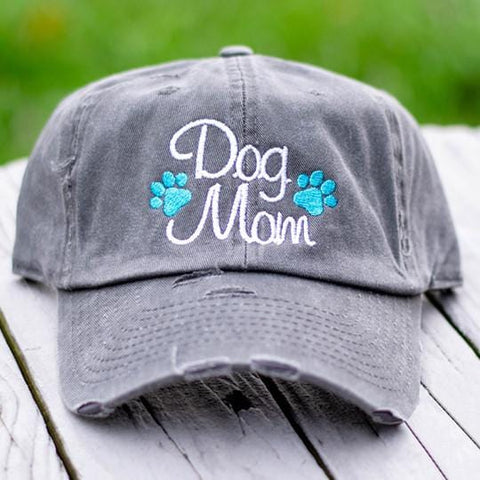 Dog Mom Paws Distressed Classic Hat
