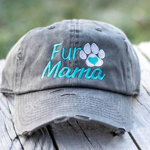 Fur Mama Paw Distressed Classic Hat