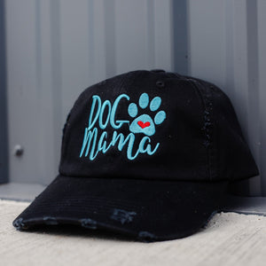 Dog Mama Heart and Paw Classic Black Hat