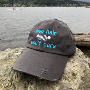 Jeep Hair Don't Care Distressed Classic Hat