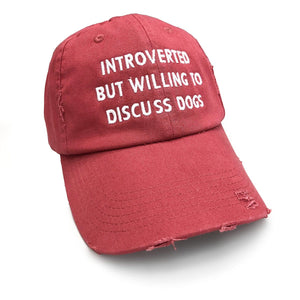 But Will Discuses Dogs Distressed Dashing Red Hat