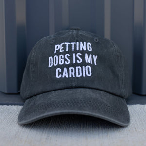 Petting Dogs Is My Cardio Charcoal Classic Hat