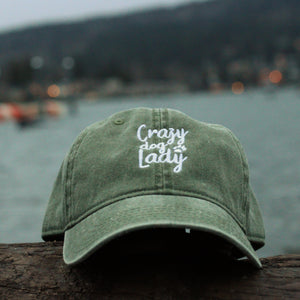 Crazy Dog Lady Classic Siege Green Hat