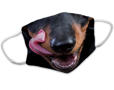 Dachshund Dog Face Mask