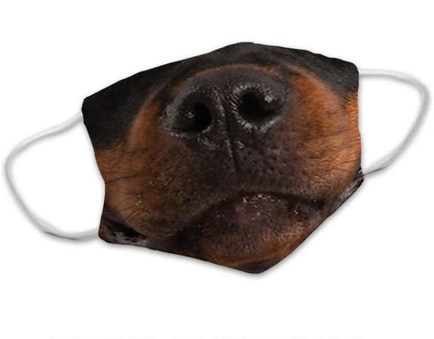 Rottweiler Dog Face Mask