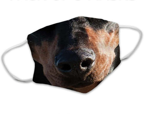 Doberman Dog Face Mask
