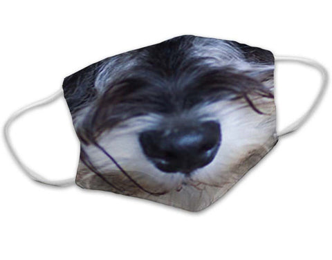 Schnauzer Dog Face Mask