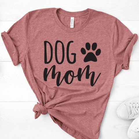 Dog Mom Paws  Classic Comfy T Shirt