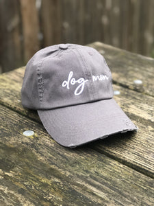 Dog Mom Charcoal Gray Hat