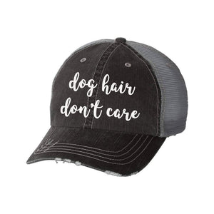 Dog Hair Don't Care Distressed Mesh Back Hat