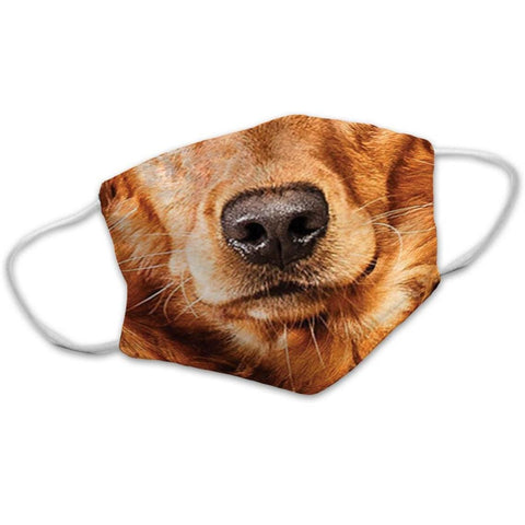 Golden Retriever Dog Face Mask