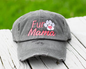 Fur Mama Distressed Classic Hat