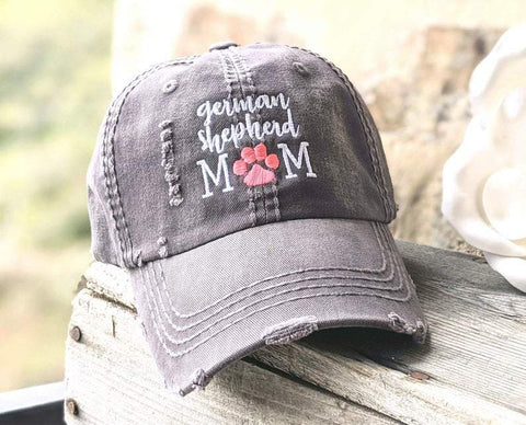 German Shepherd Mom Emotional Distressed Hat