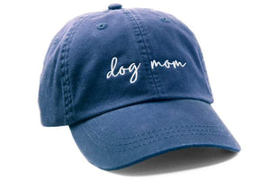 Dog Mom Classic Navy Blue Hat