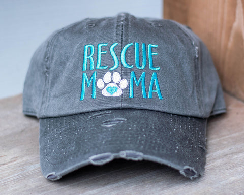 Rescue Mama Distressed Classic Hat