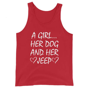 A Girl... Her Dog And Her Jeep Tank Top