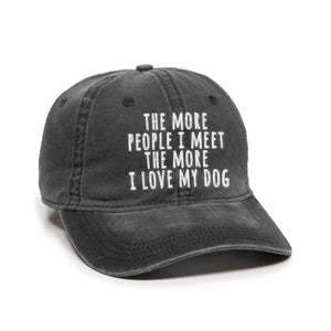 I Love my Dog Authentic Charcoal Hat