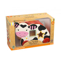 Orange tree toys cow shape sorter