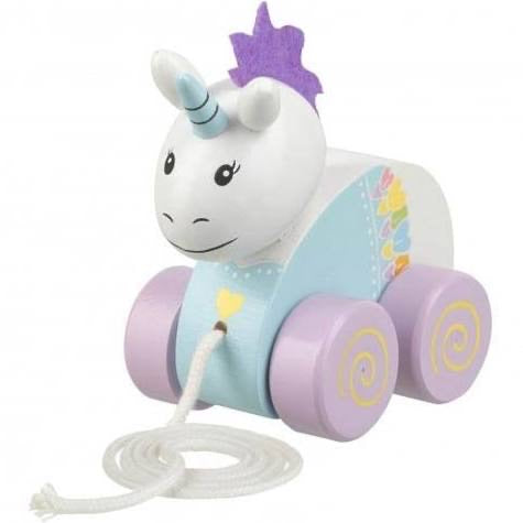 Orange tree toys pull along unicorn