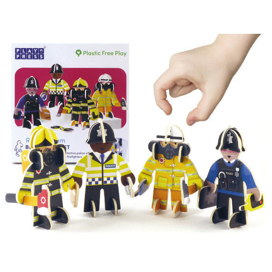 Playpress Rescue team people play set