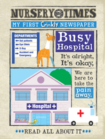 Crinkly newspaper busy hospital