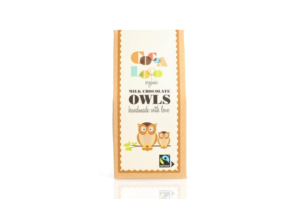 Cocoa loco organic fair trade milk chocolate owls