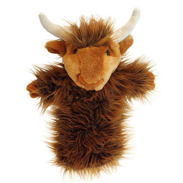 The puppet company long sleeved glove puppet highland cow