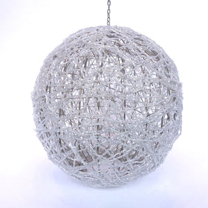 Beaded Silver Ornament