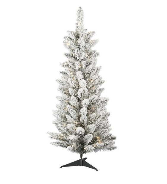 Flocked Column Tree 6 Foot