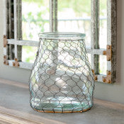 Collection Jar with Chicken Wire