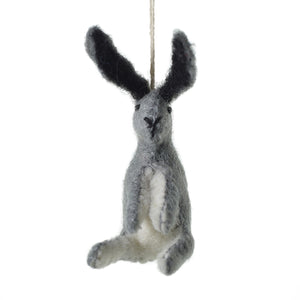 E & E Hare Felt Ornament