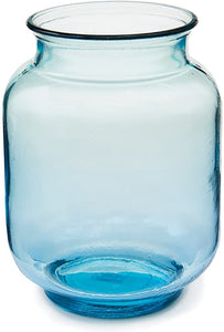 Blue Canister Glass Vase