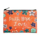 Faith Hope Love Zippered Bag